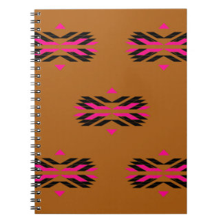 Tribal luxury pattern Brown / Aztecs Notebooks
