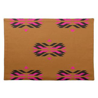 Tribal luxury pattern Brown / Aztecs Placemats