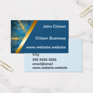 Tribal mandala and medium blue 4 business card
