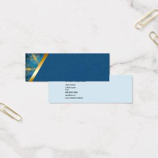 Tribal mandala and medium blue 6 business card