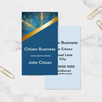 Tribal mandala and medium blue 8 business card