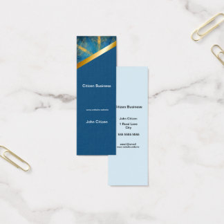 Tribal mandala and medium blue 9 business card