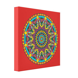 Tribal Mandala Canvas