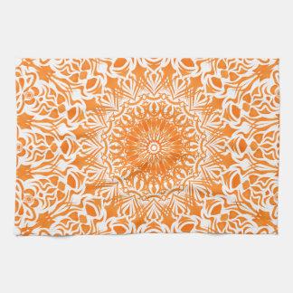 Tribal Mandala Orange Kitchen Towel