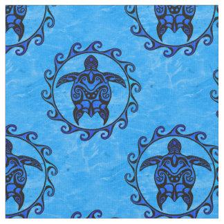 Tribal Maori Sun Turtles Fabric