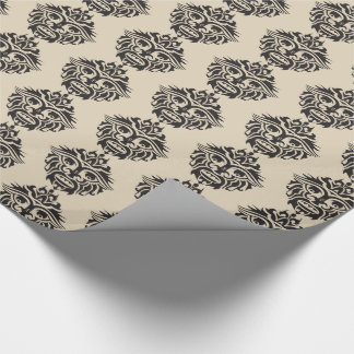 """Tribal Mask - Beige Glossy Wrapping Paper, 30"""" x 6 Wrapping Paper"""