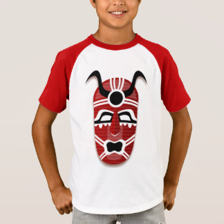 TRIBAL MASK Kids V-Neck T-Shirt