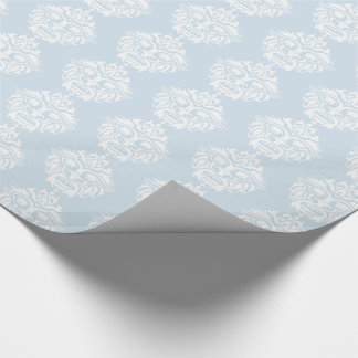 Tribal Mask - Light Blue Glossy Wrapping Paper, 30 Wrapping Paper