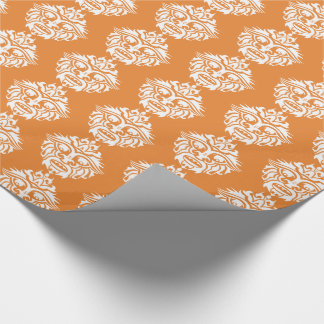 """Tribal Mask - Orange Glossy Wrapping Paper, 30"""" x Wrapping Paper"""
