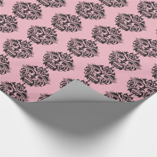"""Tribal Mask - Pink Glossy Wrapping Paper, 30"""" x 6' Wrapping Paper"""