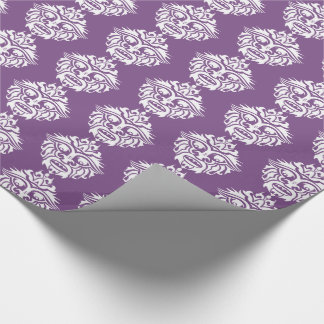 """Tribal Mask - Purple Glossy Wrapping Paper, 30"""" x Wrapping Paper"""