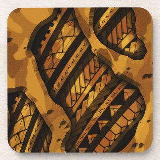 Tribal military camouflage tattoo design coaster