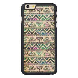Tribal Modern Colorful Geometric Pattern GR2 Carved Maple iPhone 6 Plus Case