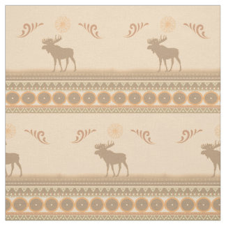 Tribal Moose Fabric