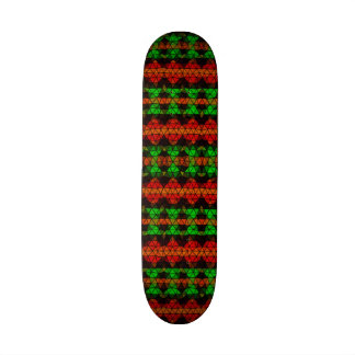 Tribal mosaic pattern skateboard deck