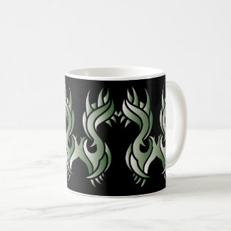 Tribal mug 10 green to over black