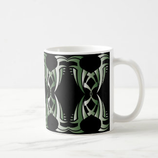 Tribal mug 12 green to over black