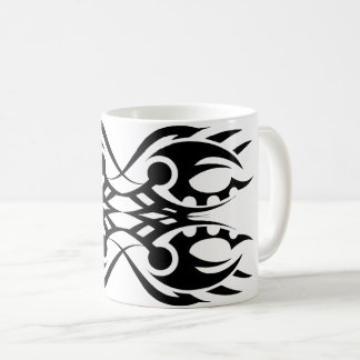 Tribal mug 18 black and white