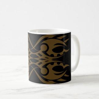 Tribal mug 18 gold to over black