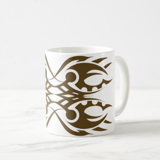 Tribal mug 18 gold to over white