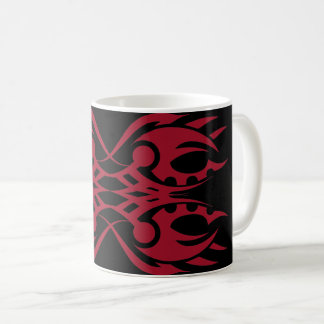 Tribal mug 18 network to over black