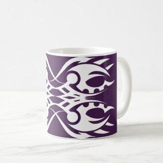 Tribal mug 18 white to over purple