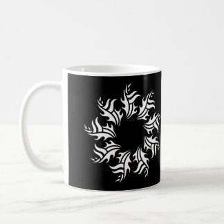 tribal mug 2 black and white
