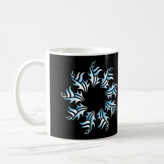 Tribal mug 2 blue and white