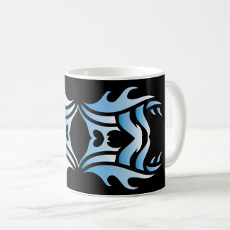 Tribal mug 3 blue and white