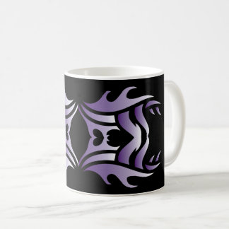 Tribal mug 3 purple and white