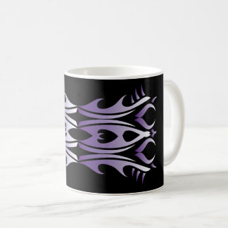 Tribal mug 4 purple and white