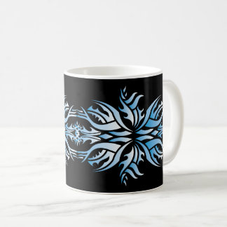 Tribal mug 5 blue and black