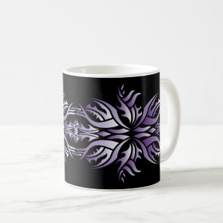 Tribal mug 5 purple and white