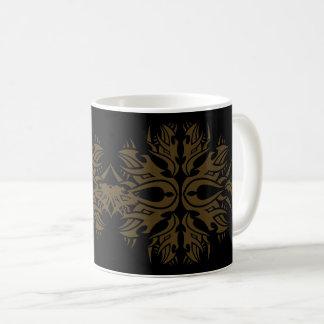 Tribal mug 6 gold to over black