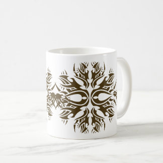 Tribal mug 6 gold to over white