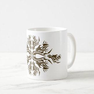 Tribal mug 6 one gold to over white