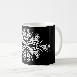 Tribal mug 6 one white to over black