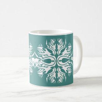 Tribal mug 6 white to over blue