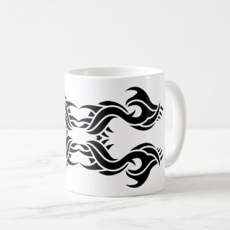 Tribal mug 8 black and white