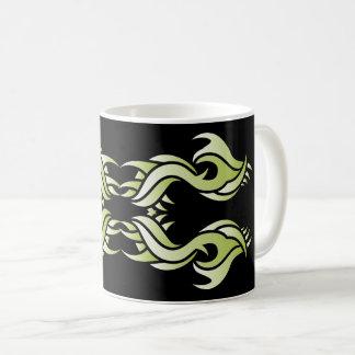 Tribal mug 8 green to over black