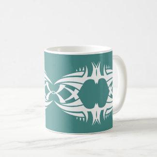 Tribal mug crow white to over blue
