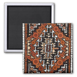 Tribal Native American Earth Tones Mosaic Square Magnet