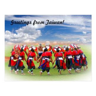 Tribal Native Taiwan Dancers! Postcard
