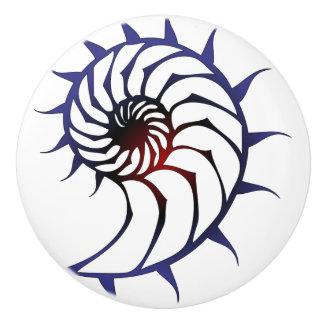Tribal Nautilus Ceramic Knob
