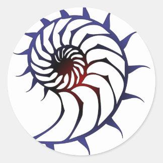 Tribal Nautilus Classic Round Sticker