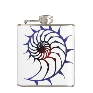 Tribal Nautilus Hip Flask