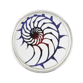 Tribal Nautilus Lapel Pin