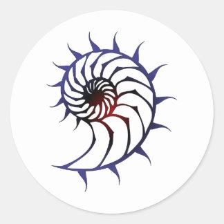 Tribal Nautilus Round Sticker