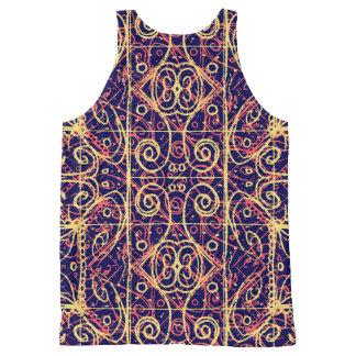 Tribal Ornate Pattern All-Over-Print Tank Top