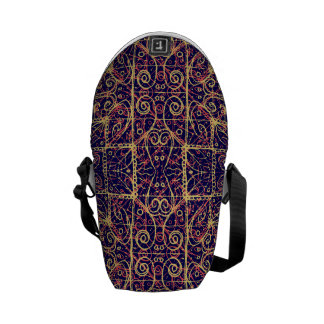 Tribal Ornate Pattern Courier Bag